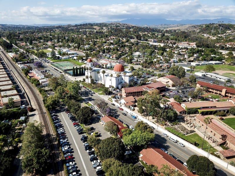 San Juan Capistrano, opinión aérea de California foto de archivo