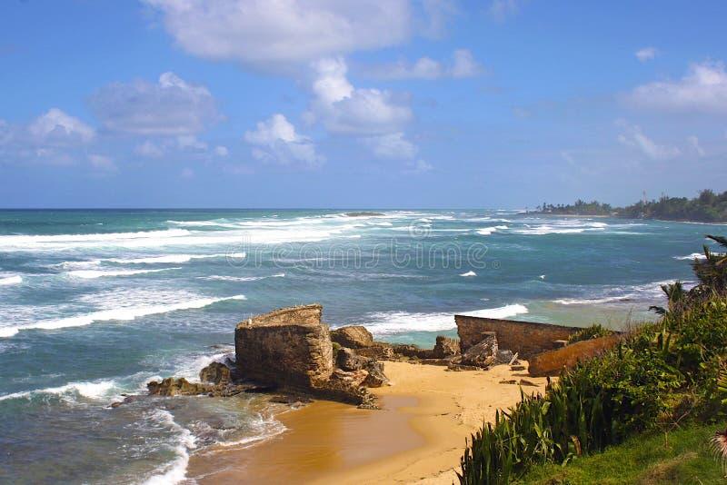 San Juan coastline, Puerto Rico. Caribbean royalty free stock photos