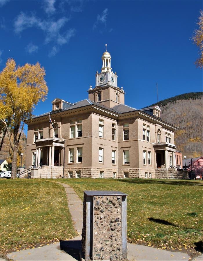 San Juan County Courthouse dans Silverton, le Colorado images libres de droits