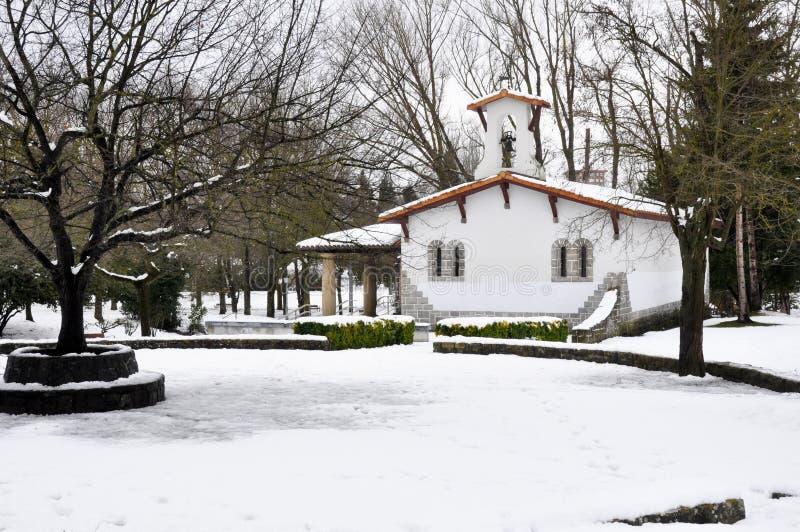 San Juan de Arriaga no inverno, Vitoria (Espanha) fotos de stock royalty free