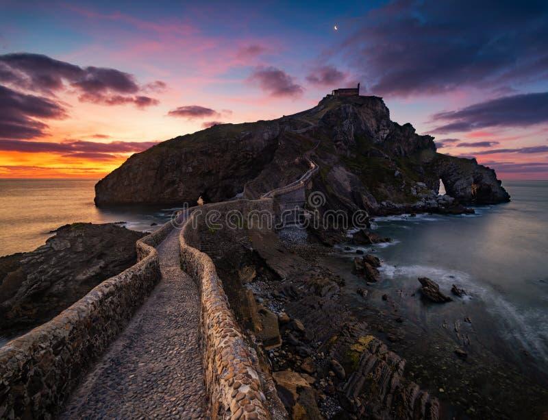 SAN Juan de gaztelugatxe, βασκική χώρα, Ισπανία στοκ εικόνα με δικαίωμα ελεύθερης χρήσης