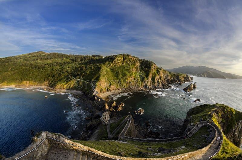 San Juan de Gaztelugatxe fotografie stock libere da diritti