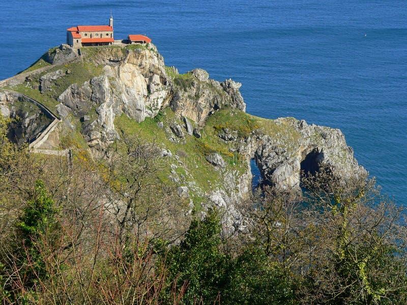 San Juan de Gaztelugatxe, Bermeo (paese Basque) immagine stock