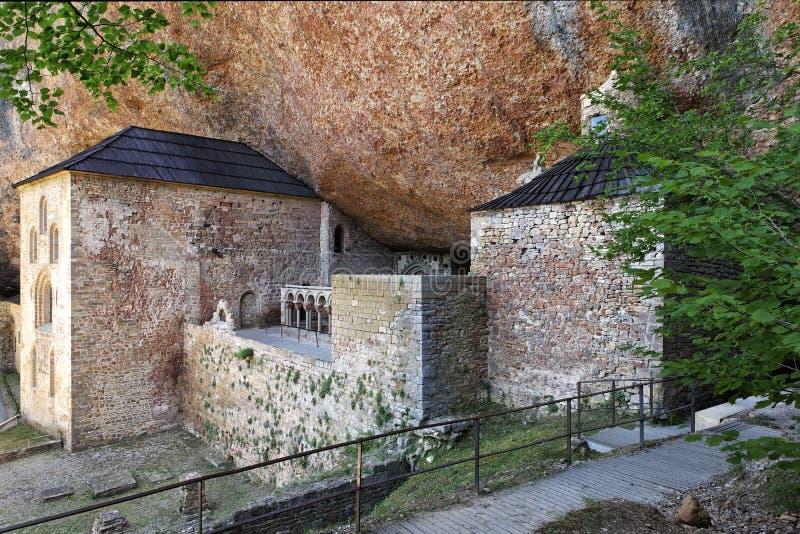San Juan DE La Pena Monastery dichtbij Huesca stock foto