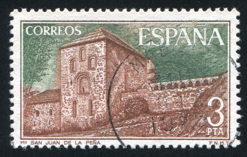 San Juan DE La Pena Monastery royalty-vrije stock foto's