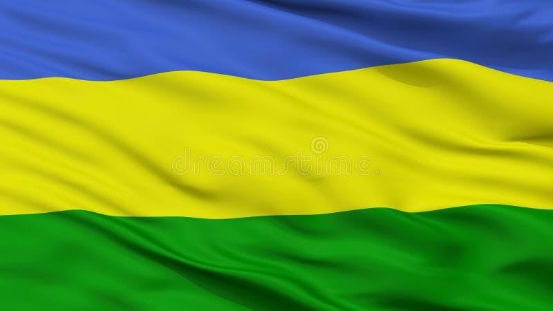 San Juan Del Cesar City Flag, Colombie, vue de plan rapproché illustration stock