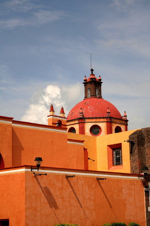 San juan del rio. Church of san juan del rio in queretaro, mexico royalty free stock photos
