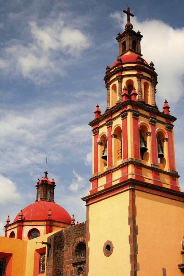 San juan del rio church. Church of the city of san juen del rio in queretaro, mexico stock photography