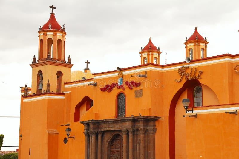 San juan del rio I. Church of the city of san juan del rio, mexican state of queretaro stock photos