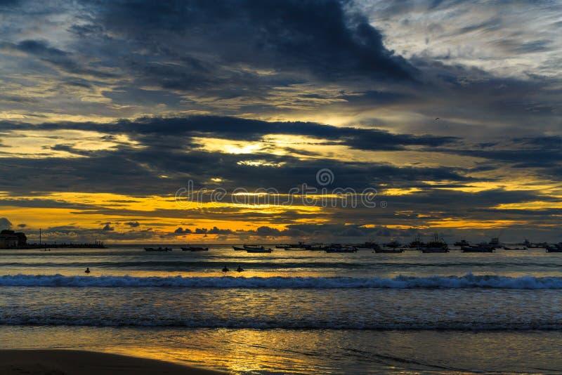 San Juan del Sur at Sunset, Nicaragua royalty free stock image