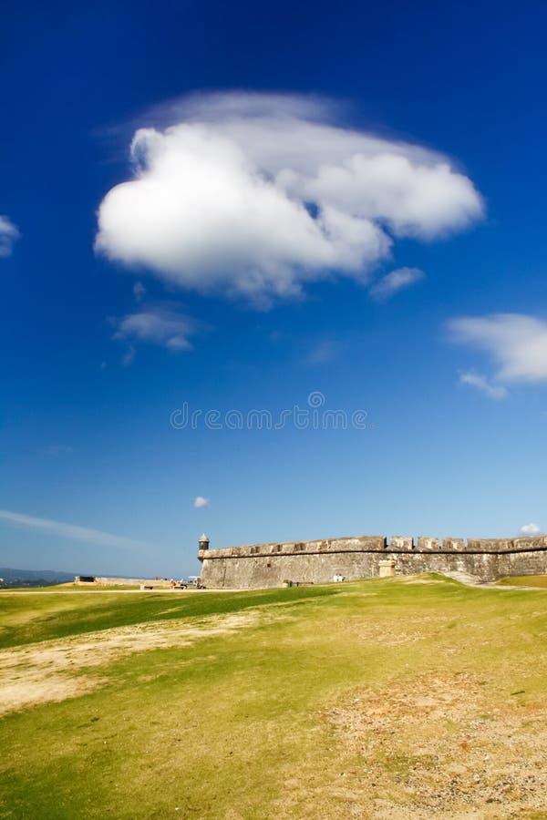 San Juan - El Morro Castle Beautiful Weather stock images