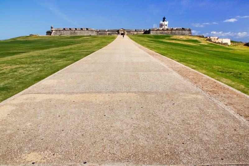 San Juan - El Morro Castle Entry Path royalty free stock photos