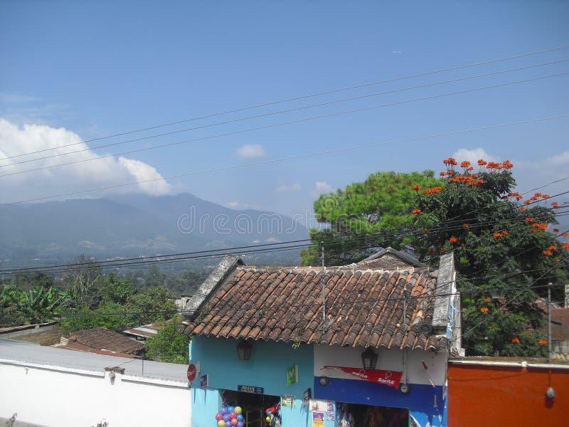 San Juan el Obispo une petite ville près de la ville coloniale de l'Antigua Guatemala 15 photo stock