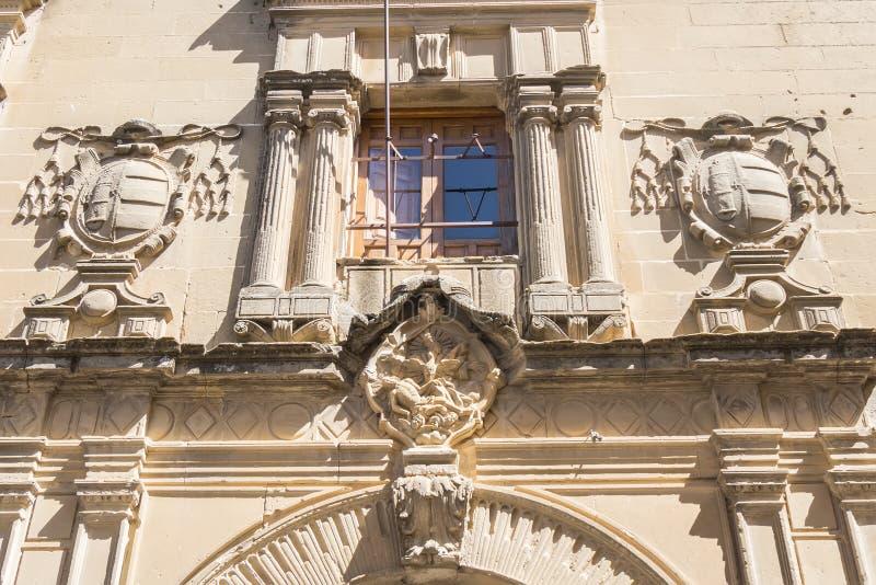 San Juan Evangelista University chapel, old university, Baeza, S royalty free stock photo