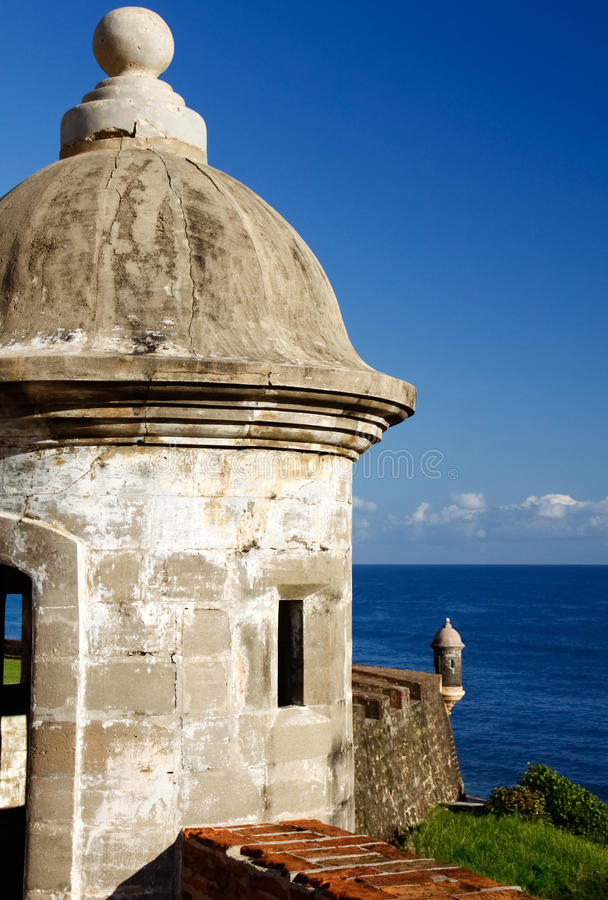 San Juan - fortificazione San Cristobal Guerite fotografia stock libera da diritti