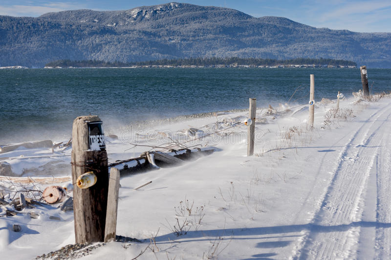 San Juan Islands Snowfall fotografia stock libera da diritti