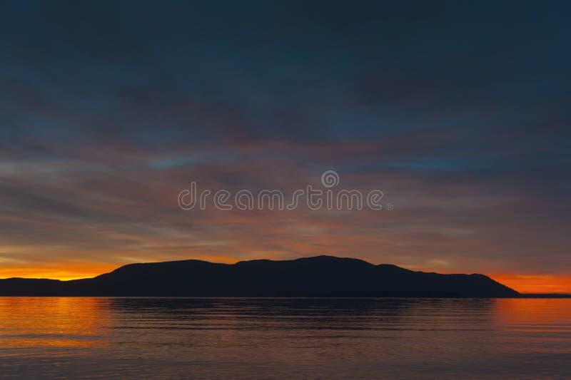 San Juan Islands solnedgång arkivfoton