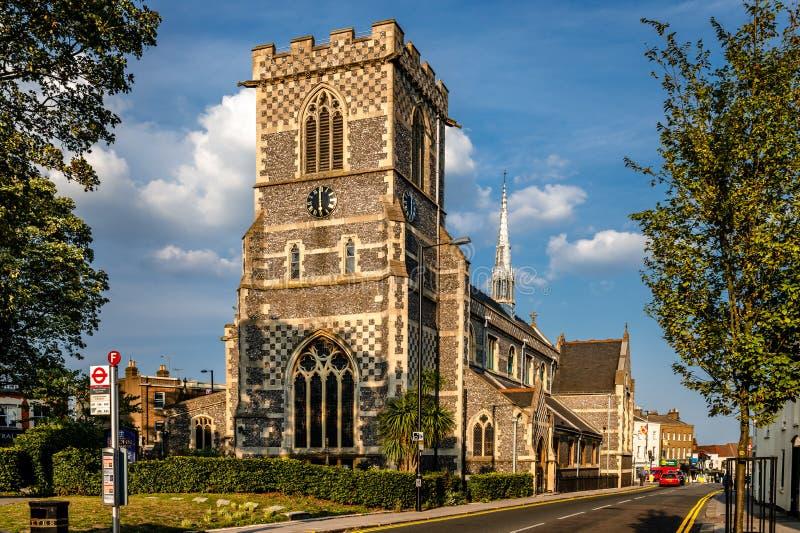 San Juan la Iglesia Bautista, en el Alto Barnet fotografía de archivo libre de regalías