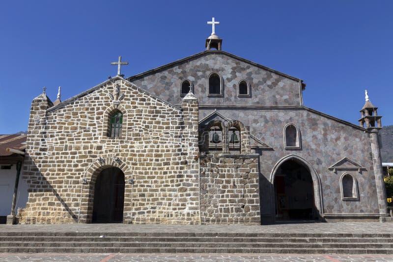 San Juan La Laguna Lake Atitlan Guatemala Spanish Catholic Church Facade Building exterior stock photography