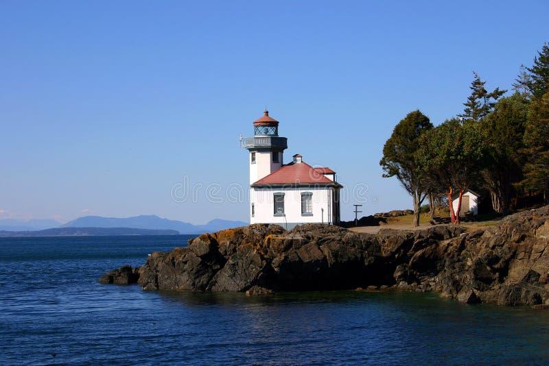 San Juan lighthouse stock photo