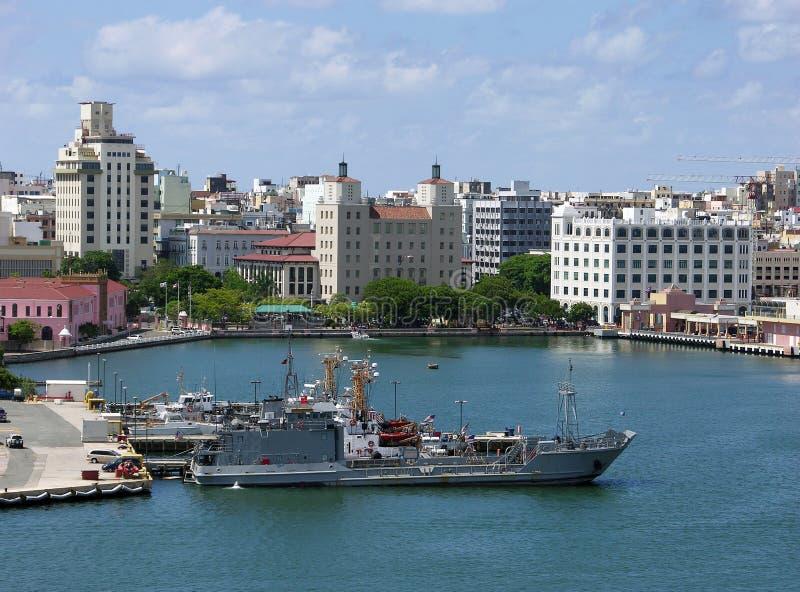 San Juan Military Port stock photos