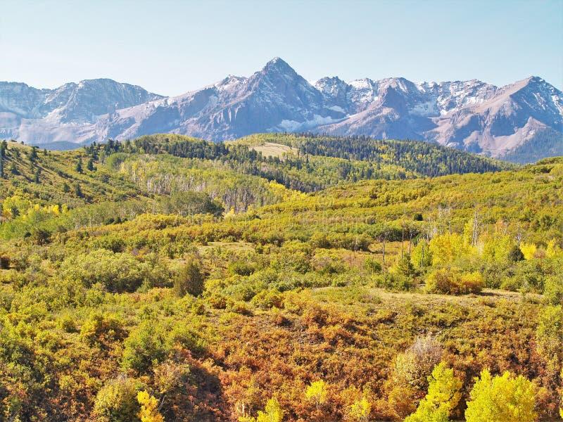 San Juan Mountains près d'Ouray, le Colorado photos libres de droits