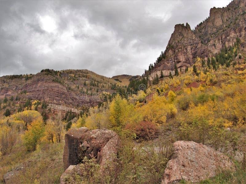 San Juan Mountains sobre el telururo, Colorado imagen de archivo