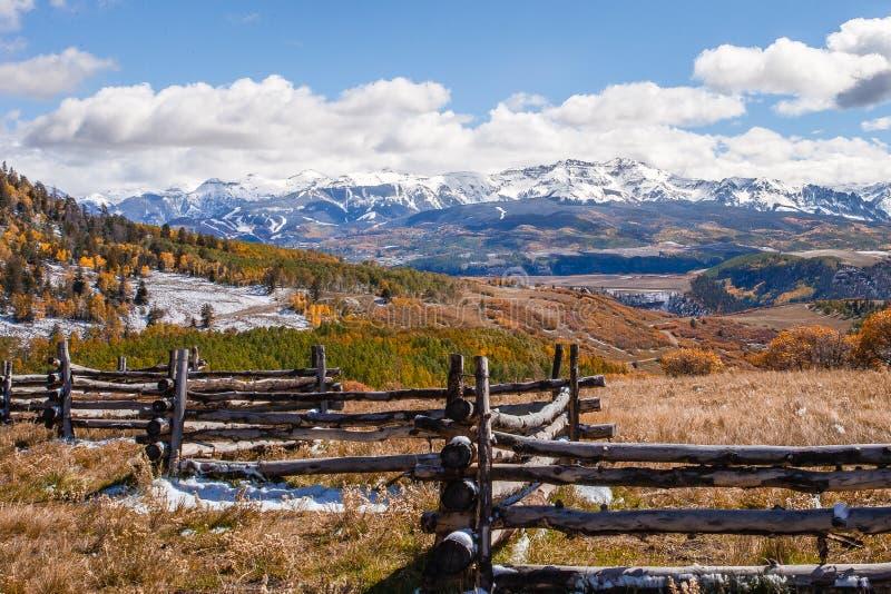 San Juan Mountains van Colorado royalty-vrije stock foto's