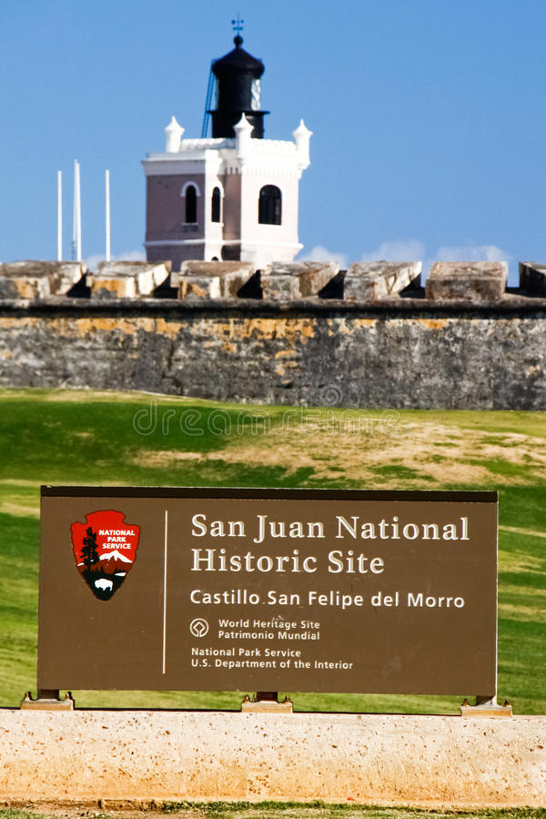 San Juan National Historic Site - El Morro royalty free stock photo