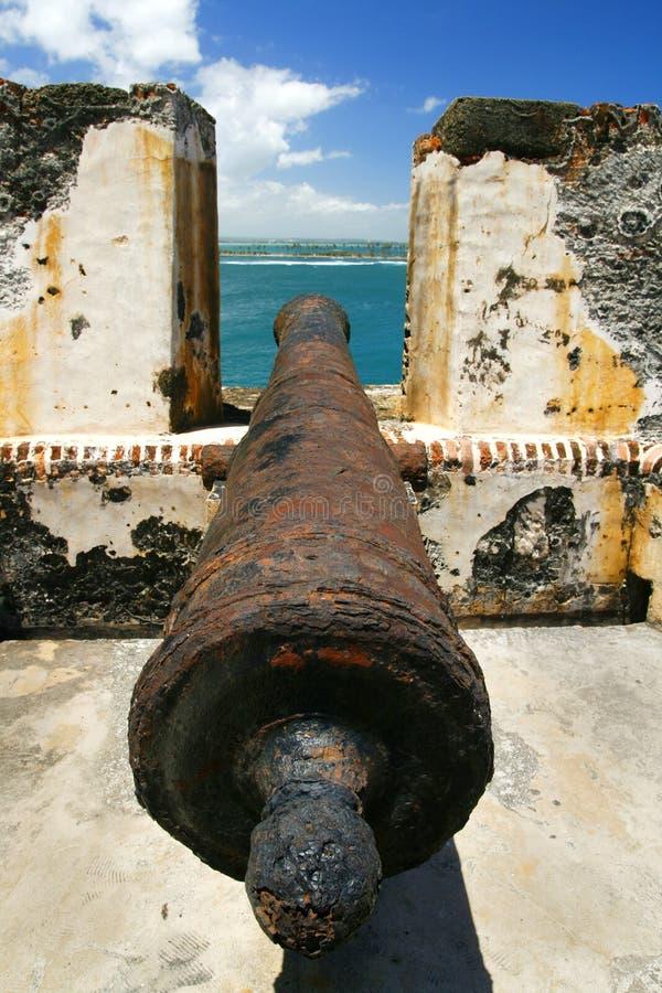 San Juan Porto Rico - cannone di EL Morro immagini stock