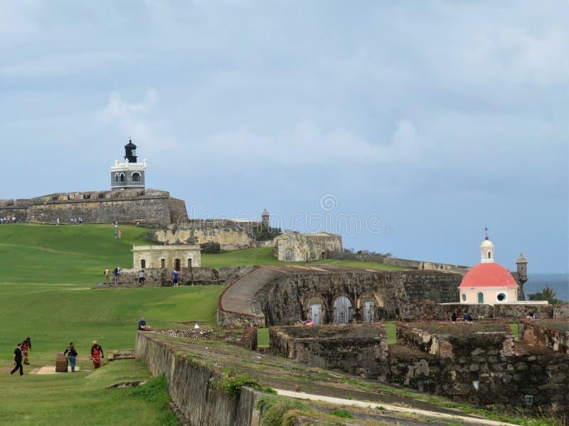 San Juan, Porto Rico, 1/25/18: Fortificazione di San Felipe del Morro in San Juan Puerto Rico fotografie stock libere da diritti