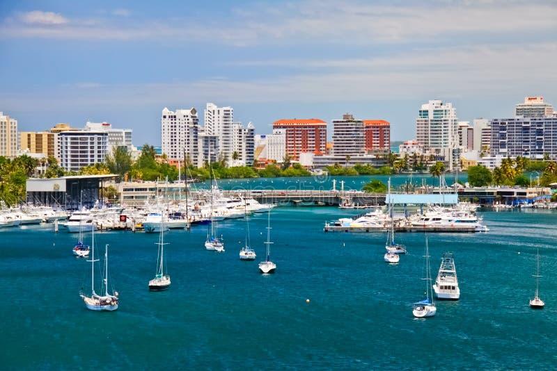 San Juan, PR - Beautiful San Juan Bay Vista stock image