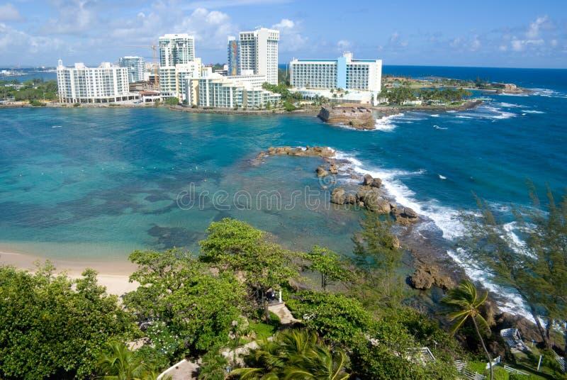 San Juan Puerto Rico (Ariel) royalty free stock image
