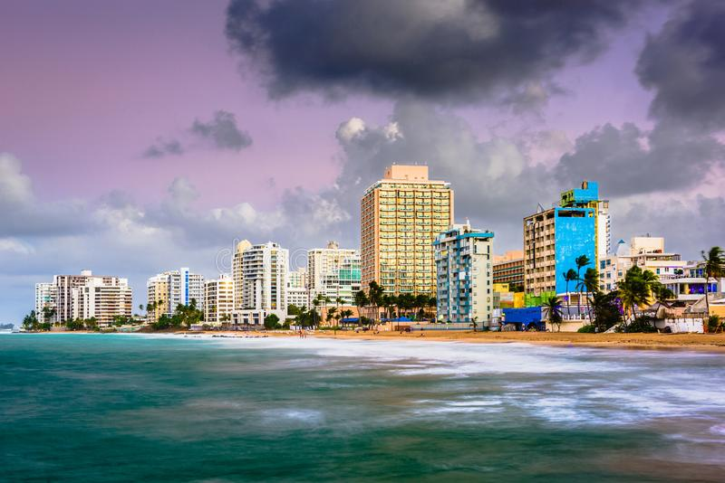 San Juan, Puerto Rico Beach stock foto's