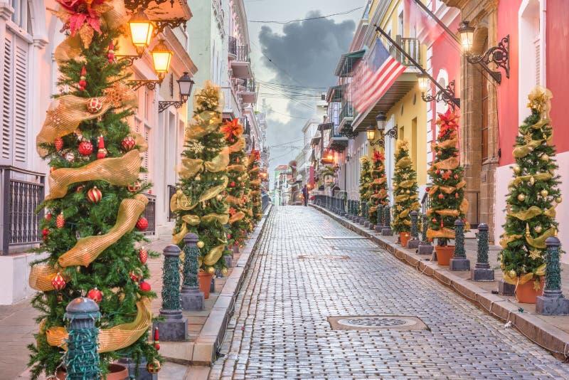 San Juan, Puerto RIco Christmas photo stock