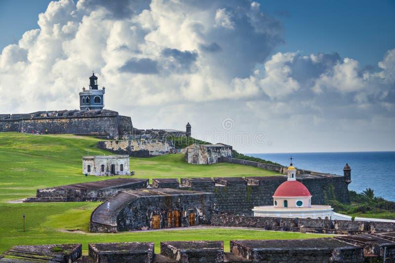 San Juan, Puerto Rico Fort royalty free stock photos