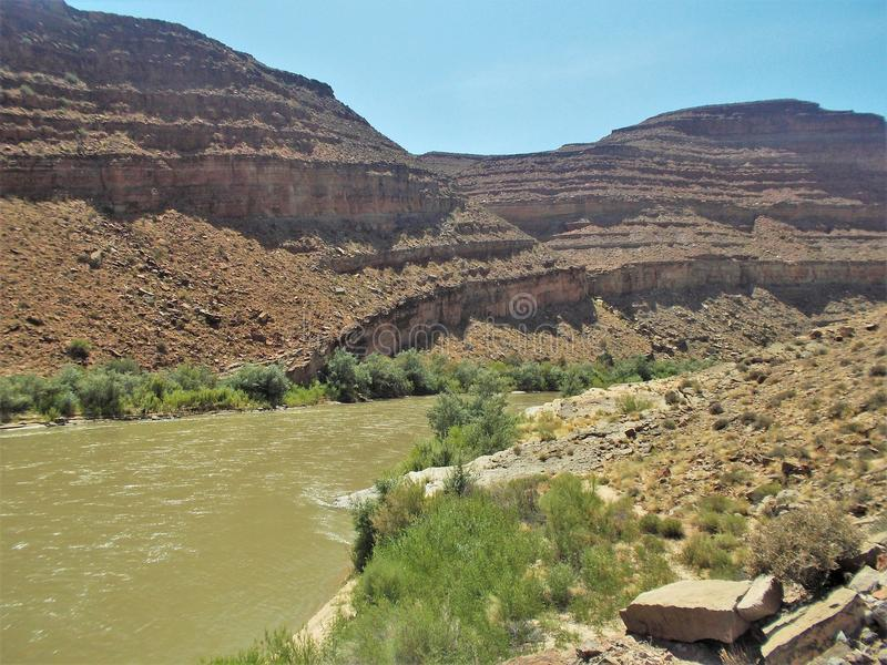 San Juan River Cliffs fotos de archivo