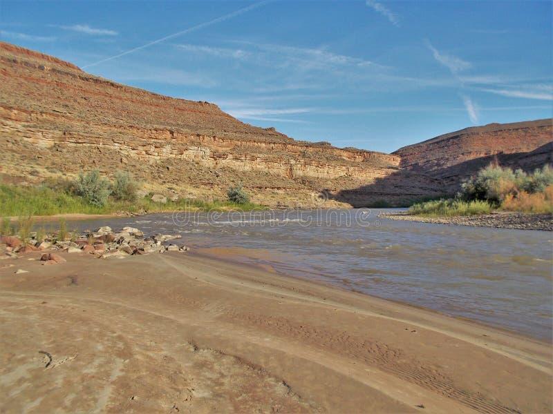 San Juan River Cliffs imagenes de archivo