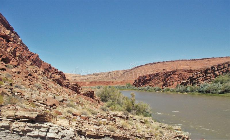 San Juan River Cliffs lizenzfreie stockbilder