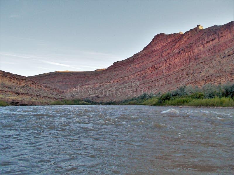 San Juan River Cliffs imagen de archivo libre de regalías