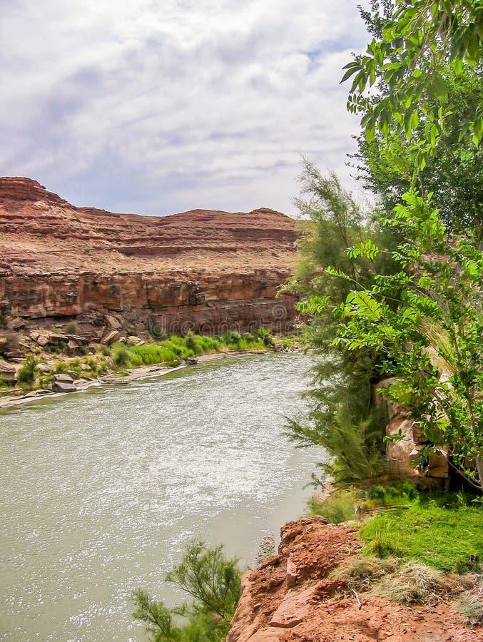 San Juan River en el sombrero mexicano, Utah imagen de archivo