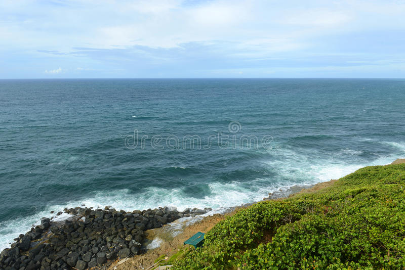 San Juan Rocky Coast, Puerto Rico arkivfoton