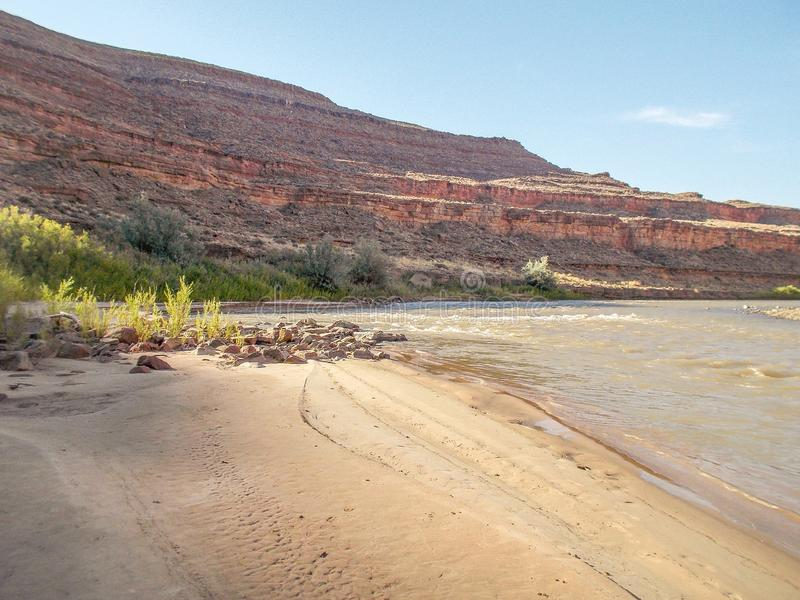 San Juan rzeka w Utah obraz royalty free