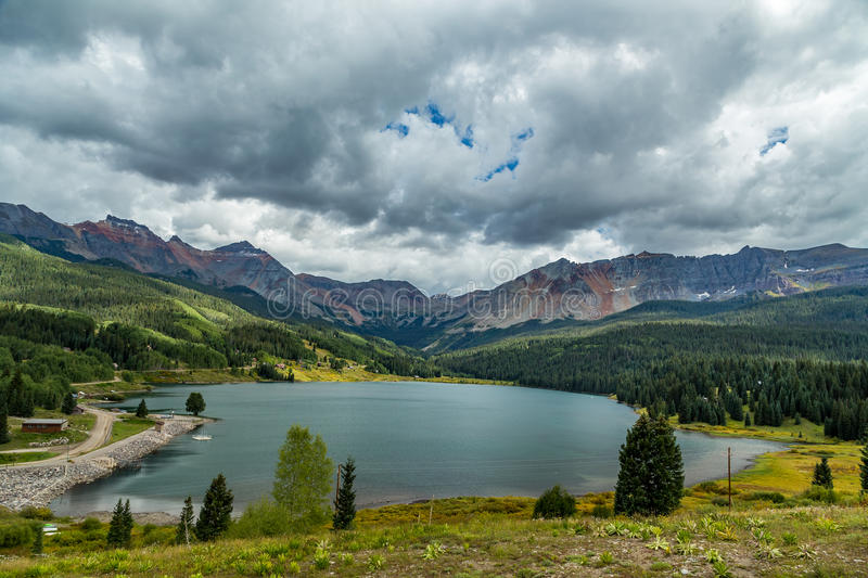 San Juan Skyway. The San Juan Skyway forms a 233 mile loop in southwest Colorado traversing the heart of the San Juan Mountains festuring breathtaking mountain royalty free stock images