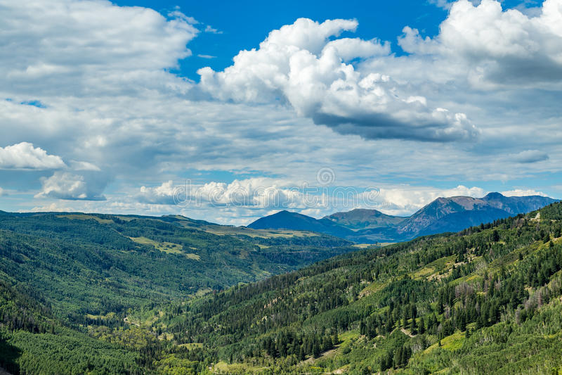 San Juan Skyway. The San Juan Skyway forms a 233 mile loop in southwest Colorado traversing the heart of the San Juan Mountains festuring breathtaking mountain royalty free stock image