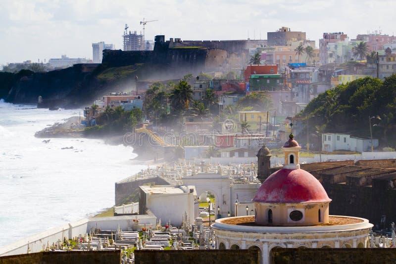 San Juan velho, Porto Rico imagens de stock