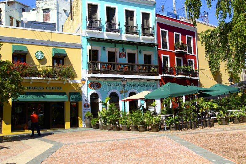 San Juan viejo en Puerto Rico fotografía de archivo libre de regalías