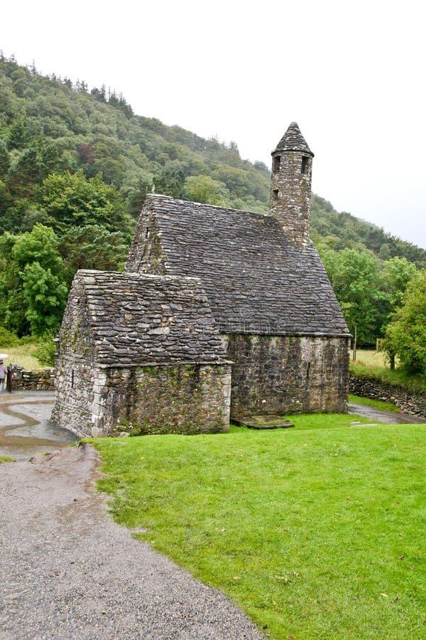 San Kevin Church Glendalough, Irlanda fotografia stock libera da diritti