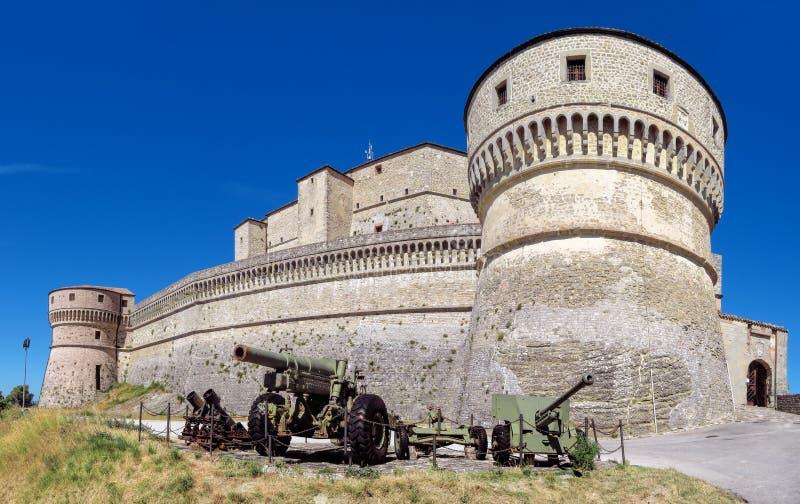 San Leo - крепость San Leo стоковое фото