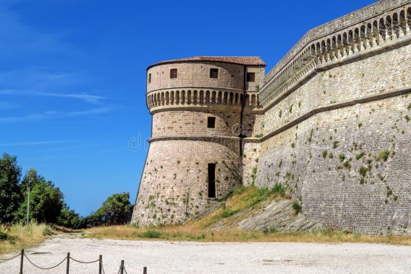 San Leo - fortezza di San Leo fotografie stock libere da diritti